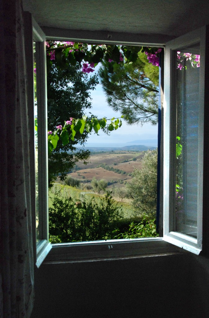 window me and mom in tuscany